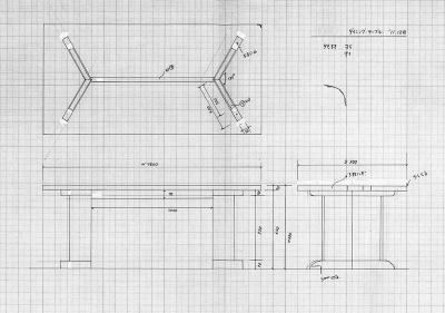 two-legged table