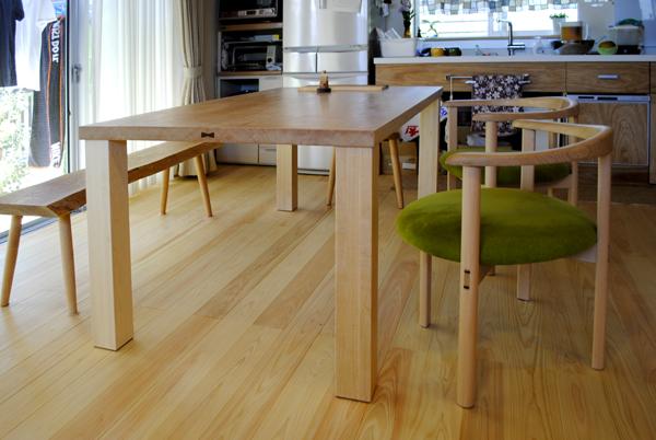 幕板のないテーブル