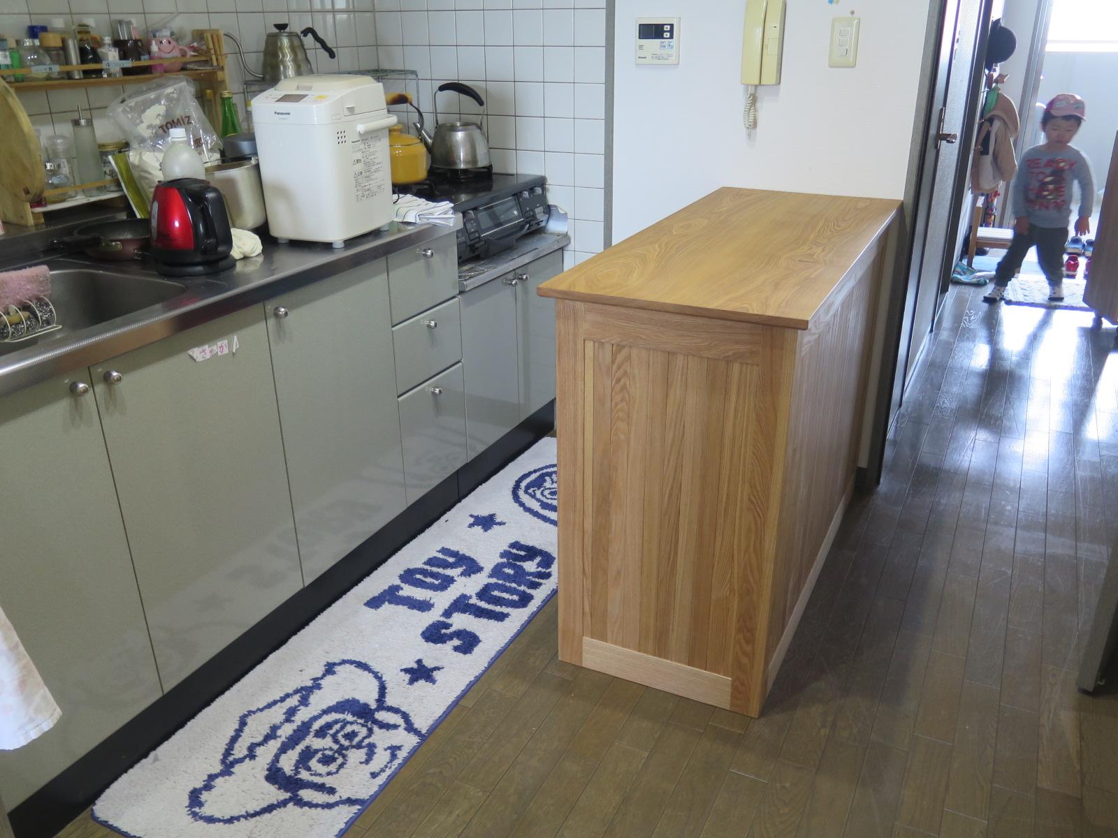 少し小さめのカウンターキッチン